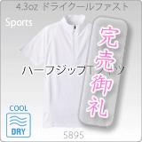 5895-01 4.3オンスドライクールファストハーフジップTシャツ