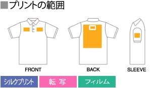 ポロシャツの名入れエリアと方法
