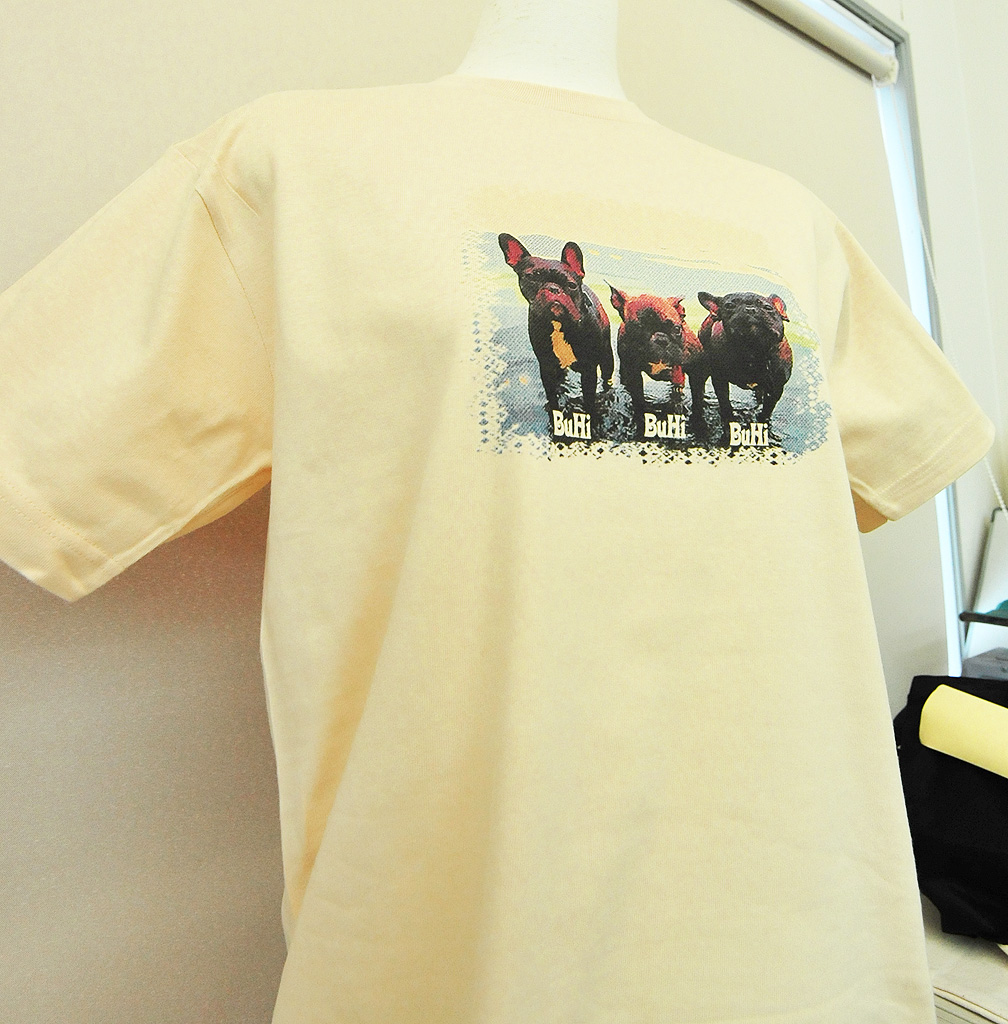 Tシャツへの小さめ画像プリント