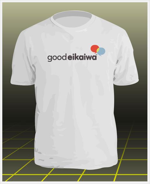 英会話教室ロゴ入りTシャツ