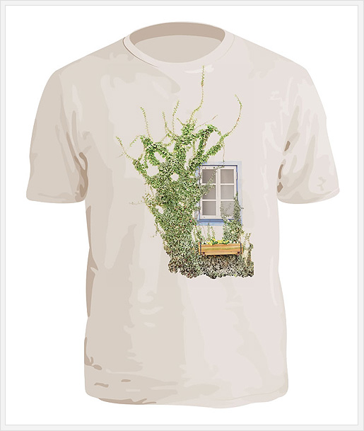 壁モチーフのTシャツ