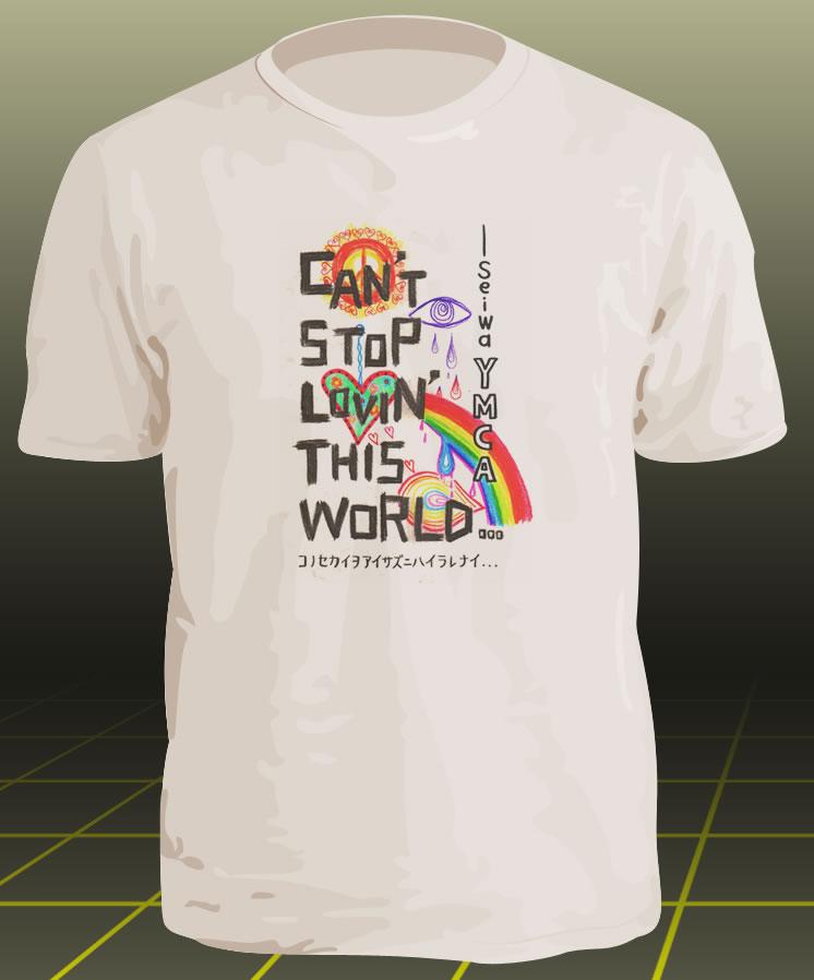 手書きカラーTシャツがかわいい
