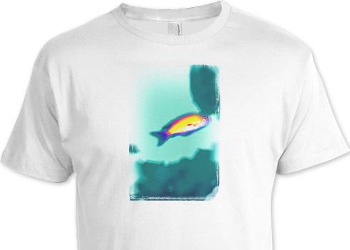 水中写真を絵的にリデザインしてTシャツ作成