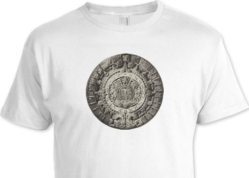 マヤ暦デザインのTシャツ